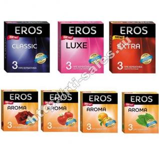 Презервативы в упаковке ЭРОС